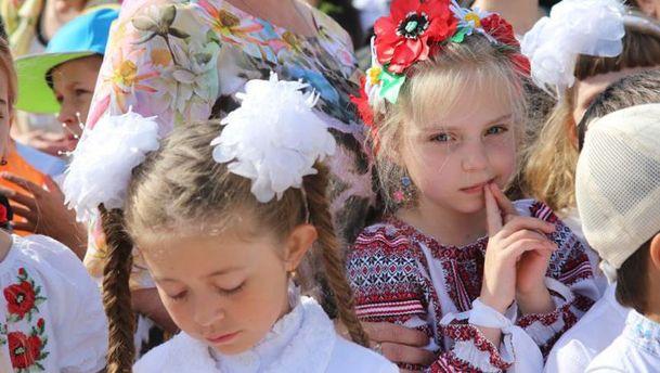 Крымские школьники в вышиванках