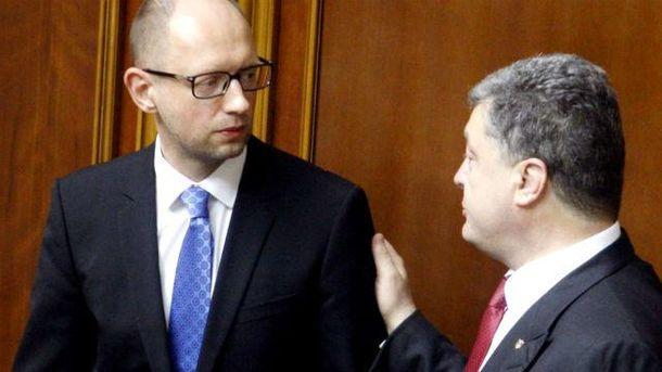 Украинцы любят Порошенко больше, чем Яценюка, — соцопрос