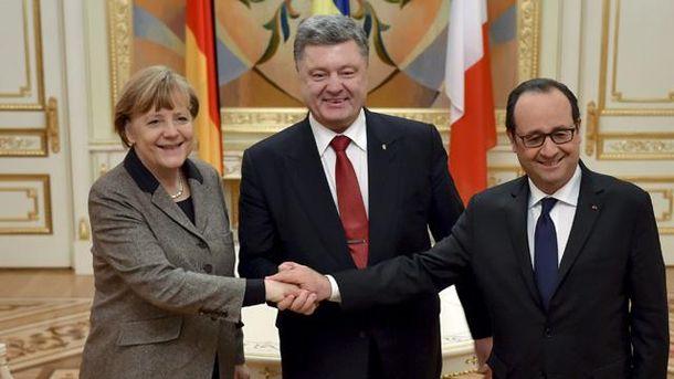 Порошенко, Меркель и Олланд