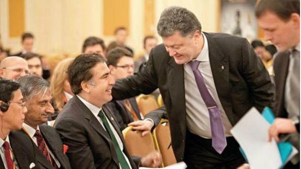 Петр Порошенко и Михаил Саакашвили
