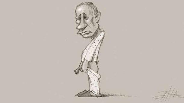 Карикатура на Путіна