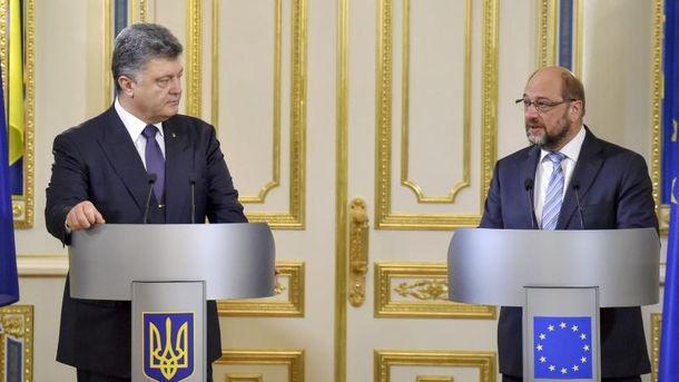 Петро Порошенко і Мартін Шульц
