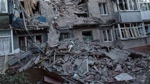 Розбиті будинки Донбасу