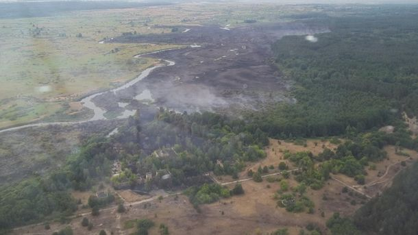 Пожежа під Чорнобилем