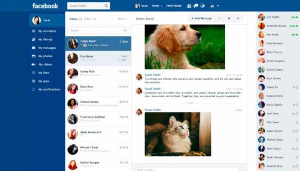 Новая версия Facebook