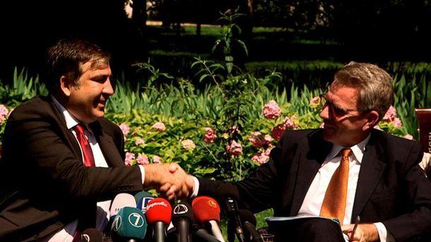 Михаил Саакашвили и Джеффри Пайетт