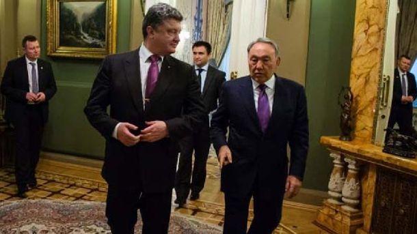 Порошенко та Назарбаєв