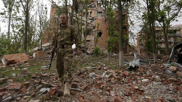 Український солдат у Широкиному