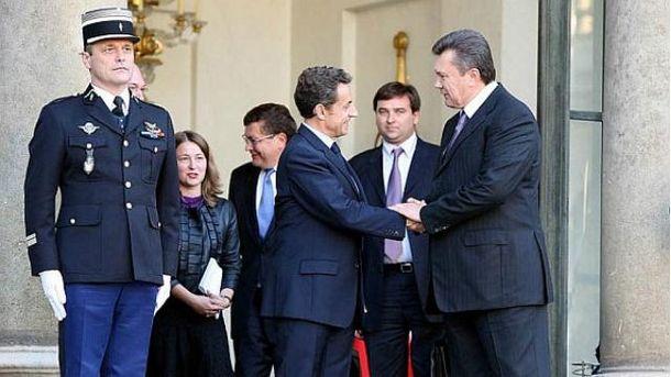 Виктор Янукович и Николя Саркози