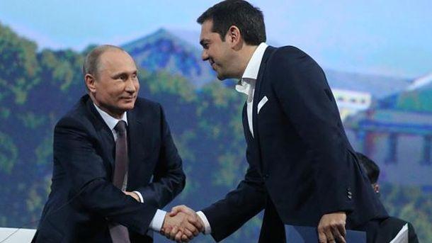 Владимир Путин и Алексис Ципрас
