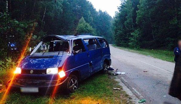 Мікроавтобус після аварії