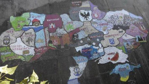 Мозаичная карта Украины