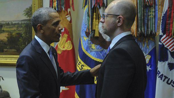Барак Обама і Арсеній Яценюк