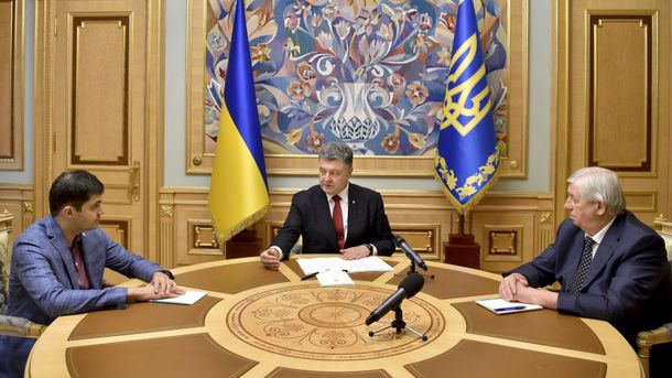 Давид Сакварелидзе, Петр Порошенко и Виктор Шокин