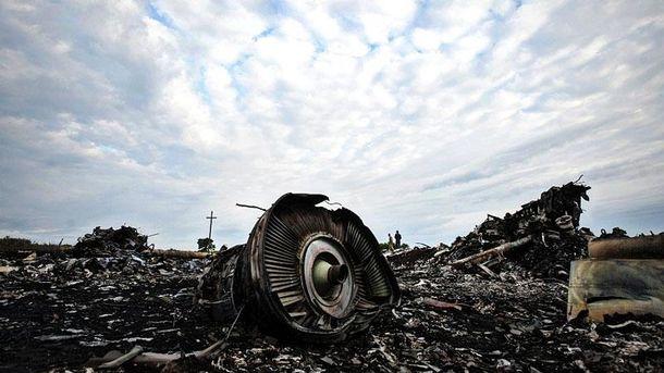 На месте падения малайзийского самолета