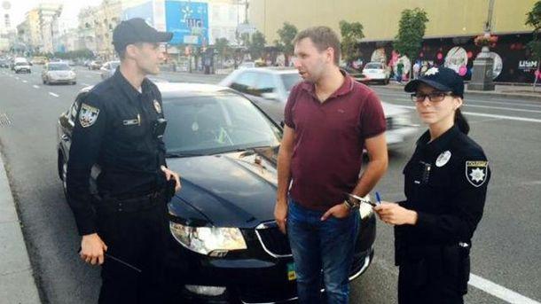 Патрульные оштрафовали Парасюка