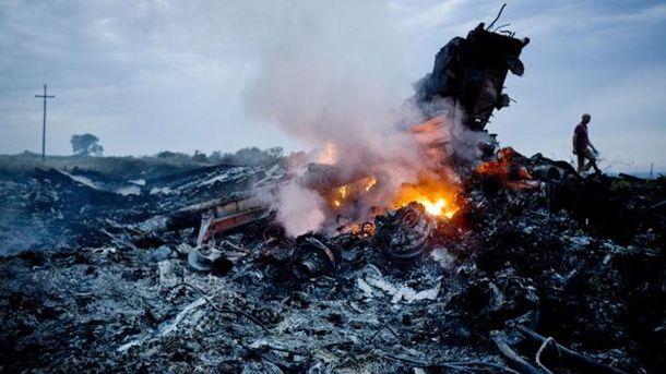На месте падения MH 17