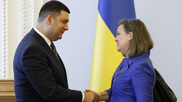 Владимир Гройсман и Виктория Нуланд
