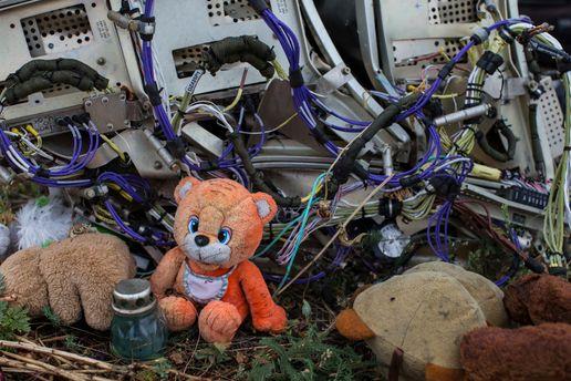 Донбасс. Место падения Boeing-777