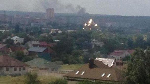 взрыв в Луганске