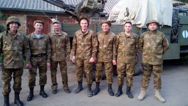 Украинские солдаты в новой форме