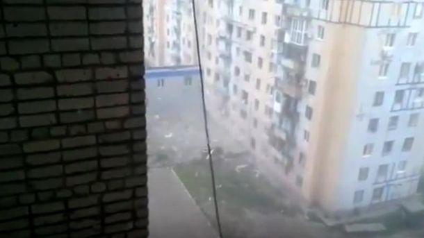 Обстріл житлового кварталу