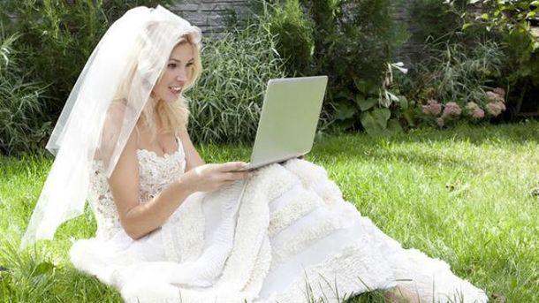 Невеста с ноутбуком