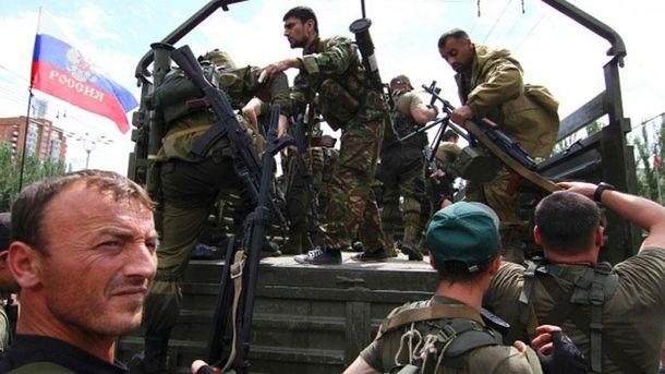 Террористы и российские военные