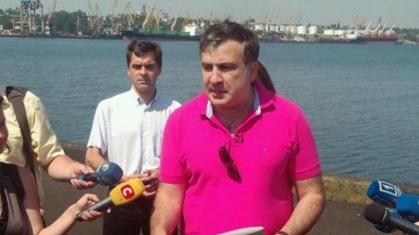 Михаил Саакашвили в Ильичевском порту