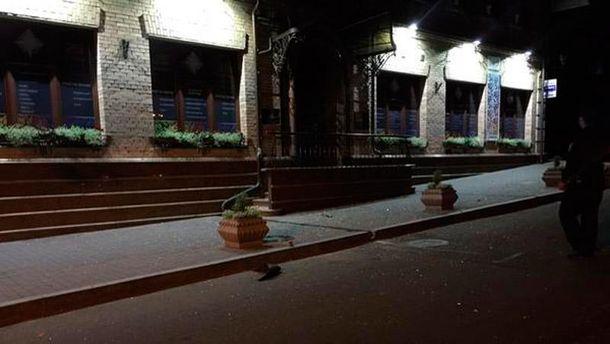 Место взрыва в Киеве