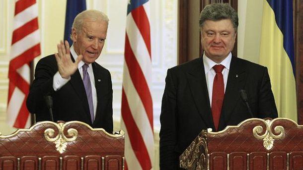 Джозеф Байден і Петро Порошенко