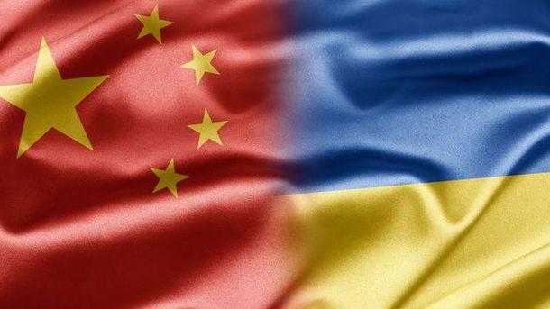 Флаги Китая и Украины