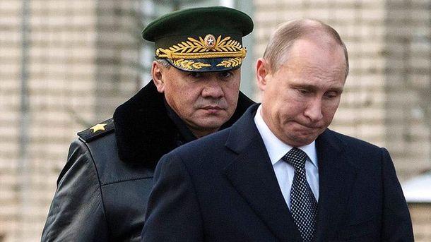 Сергій Шойгу та Володимир Путін