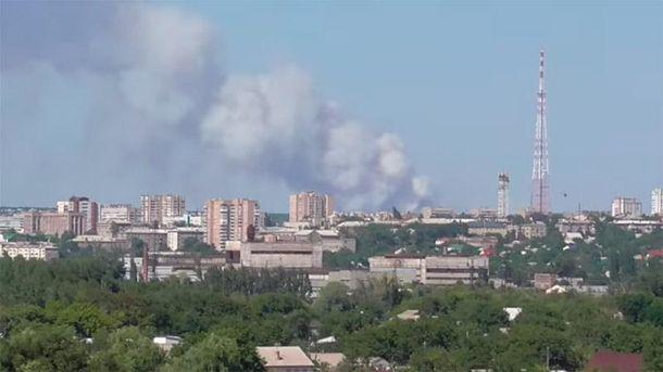 Пожежа в Луганську