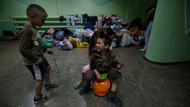 Дети с оккупированных территорий