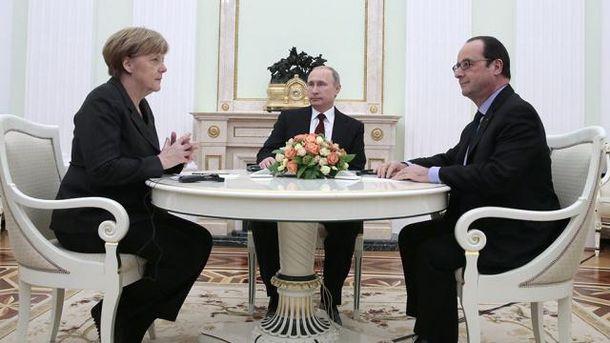 Меркель таОлланд знову говорили зПутіним про Донбас