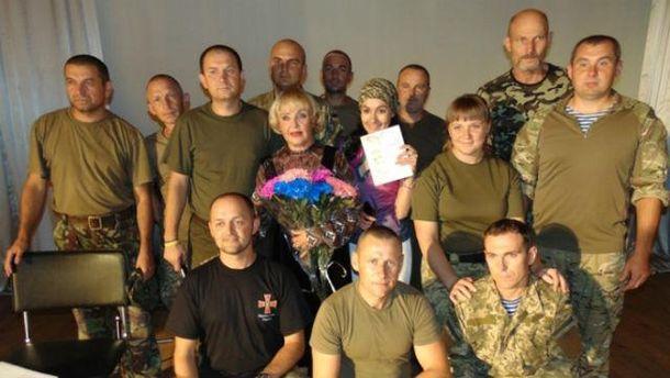Роговцева з десантниками