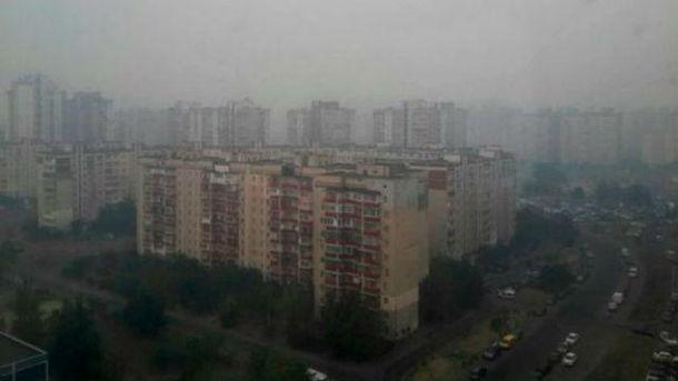 Київ затягнуло димом