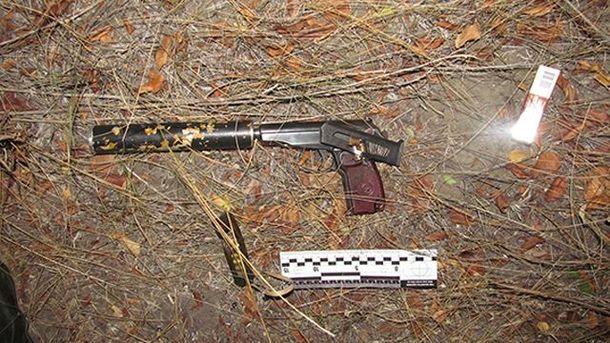 Изъятый пистолет