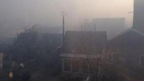 Будинки у диму