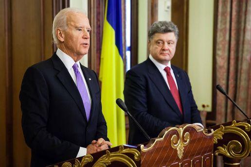 Джо Байден, Петр Порошенко