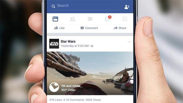 В стрічці новин Facebook можна буде дивитись 360-градусне відео