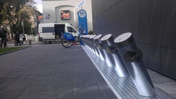 Стнація муніципального прокату велосипедів у Львові
