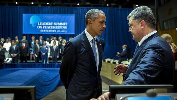 Барак Обама і Петро Порошенко