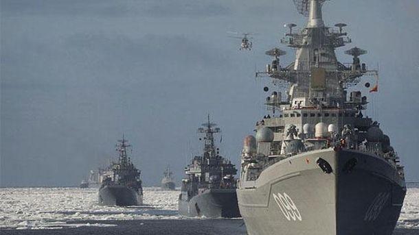 Военные корабли в Арктике
