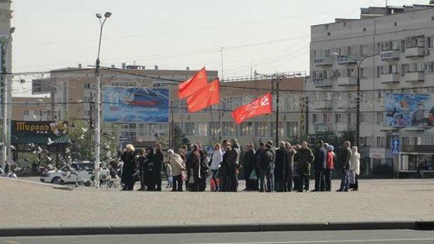 Митинг в оккупированном Донецке