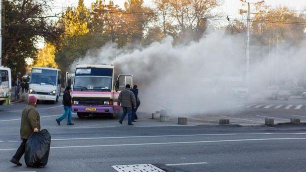 Пожежа в автобусі