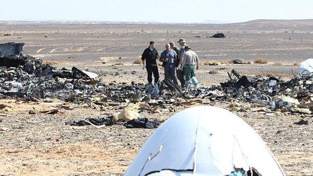 Место катастрофы Airbus A321