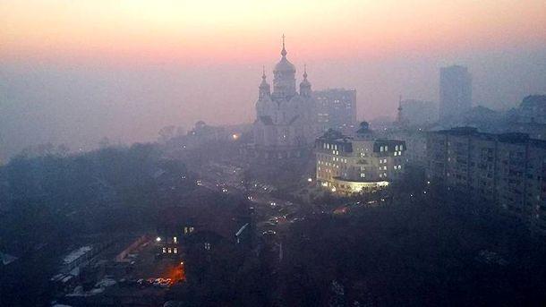 Хабаровськ затягнуло димом