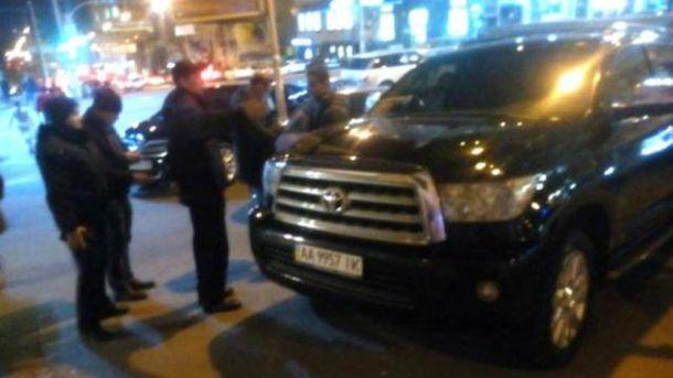 Полиция оштрафовала автомобиль Кличко